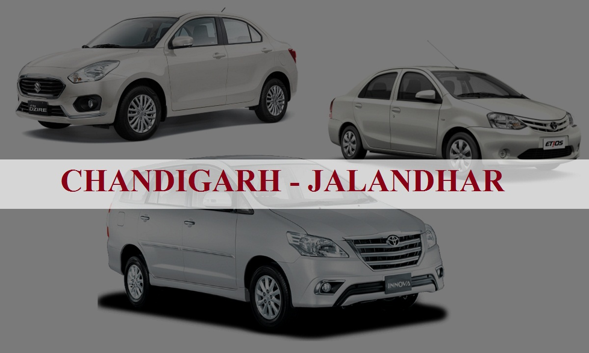 Chandigarh to Jalandhar One Way Taxi Service