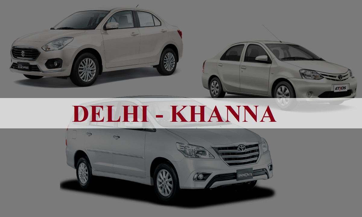 Delhi to khanna One Way Taxi Service