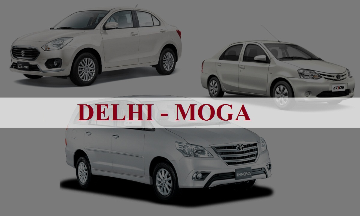 Delhi to Moga One Way Taxi Service