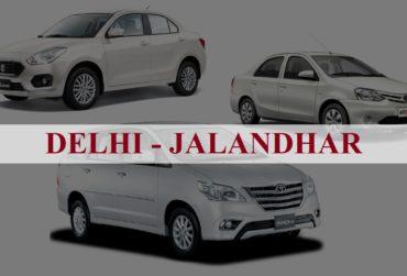 Delhi<=>Jalandhar One Way Taxi Service