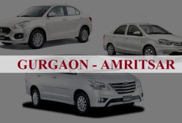 Gurgaon<=>Amritsar One Way Taxi Service