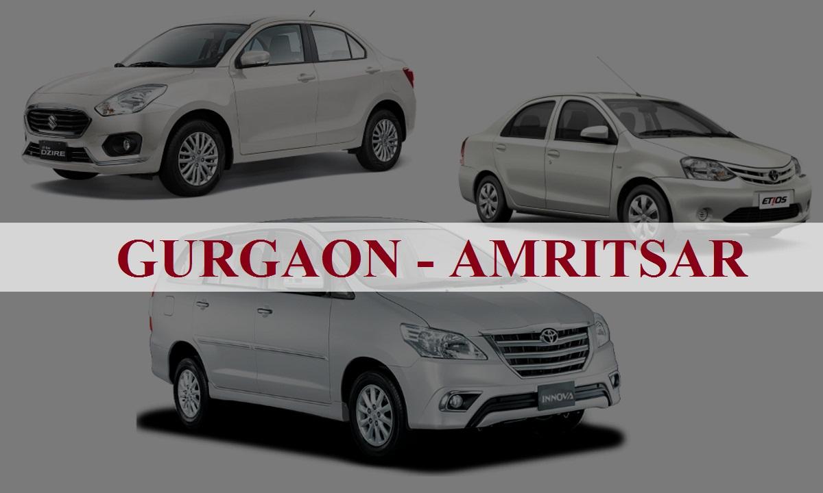 Gurgaon to Amritsar One Way Taxi Service