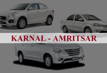 Karnal<=>Amritsar One Way Taxi Service